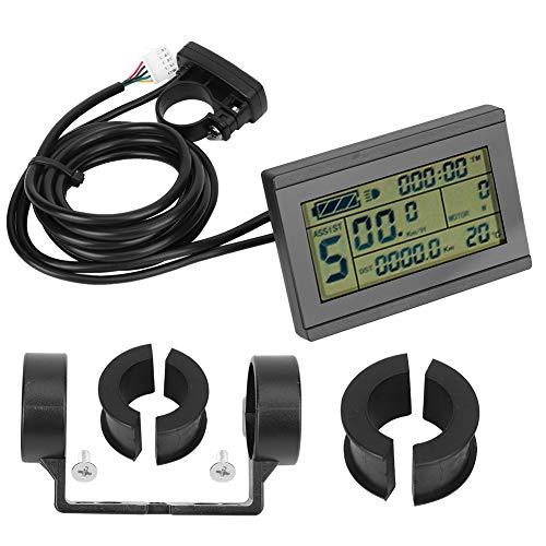 Worii Langlebiges und praktisches LCD-Instrument, E-Bike-Umrüstzubehör, mit USB-Schnittstelle Stabile Leistung für Radfahrer S-M-Anschluss Radfahrer Autohäuser