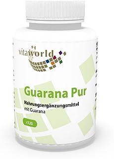 Guaraná Puro 500mg 120 Cápsulas - Vita World Producción en Farmacia en Alemania