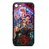 iPhone 7 Case, iPhone 8 Case, Season 3 Poster Pattern Phone Case Luxury Tempered Glass Glossy Cover with Soft Silicone TPU Shockproof Bumper Case