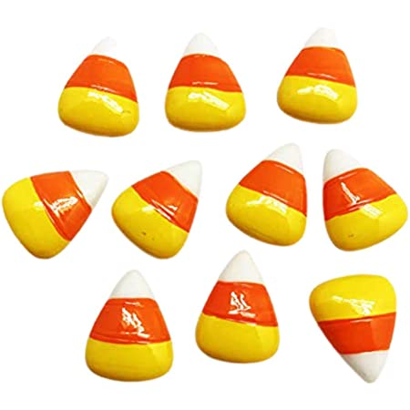 Candy Corns acrylic laser cut cabochon  4 or 8 pcs  Lot Please see 2nd photo and description for Important Information on this Listing