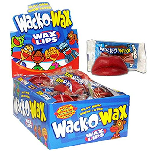 Wax Lips Candy, Cherry flavor 24 pk.(12oz)