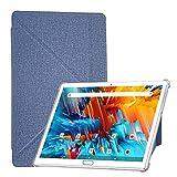 FEONAL K116 Custodia Per Tablet, Custodia antiurto e antigoccia per tablet da 10 pollici,Leather Custodia Protettiva Case, resistente all'usura, Tablet PC a diverse angolazioni - Blue