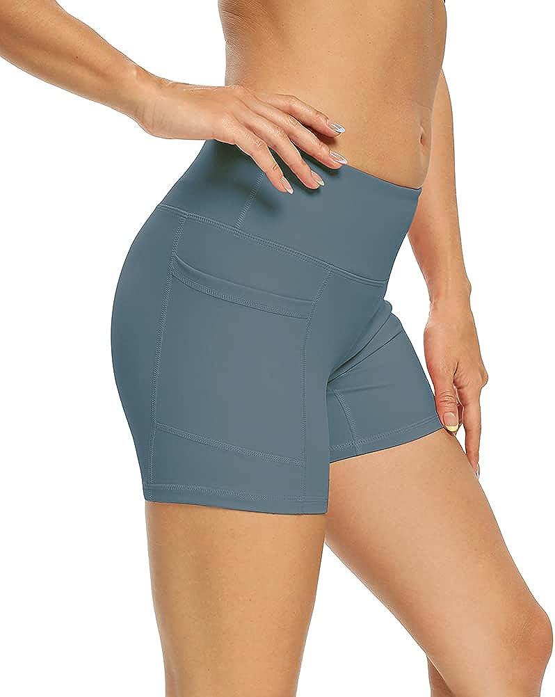 Bombing free shipping Bestisun Bargain Womens Workout Shorts Tummy Waist High See Non Control