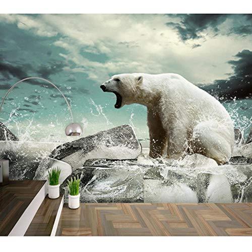 3D Photo Wallpaper,Polar Bear Animal Large Mural,Living Room Aisle Children Room 3D Wallpaper 280 cm (W) x 180 cm (H)