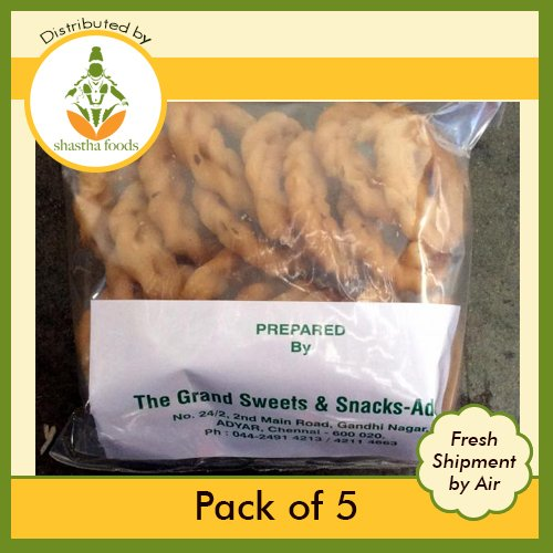 Grand Sweets and Snacks Hand B-M 100% quality warranty Challenge the lowest price of Japan Murukku Pack 5 of