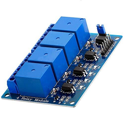 AZDelivery Modulo Relay a 4 canali 5V con Optoaccoppiatore Low-Level-Trigger compatibile con Arduino incluso un E-Book!