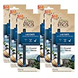 Enviroscents Auto Sticks Natural Car Air Fresheners, 6-Pack with 12 Sticks (Coastal Storm)