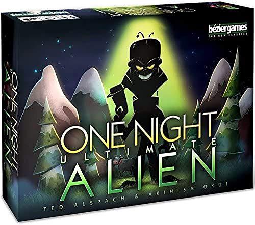 One Night Ultimate Alien Card Board Games 4-10 Players Party Game Deck Game, Versión En Inglés
