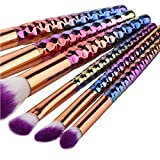 LUGJ Cepillo del Maquillaje ceja cosmética Premium Brocha sintética de Cepillo del Maquillaje de Maquillaje, los Polvos, correctores, Blush, y Brocha portátil de Viaje Cepillo de Limpieza