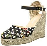 Desigual Shoes Lunares - Alpargatas de Material sintético Mujer, Color Negro, Talla 36