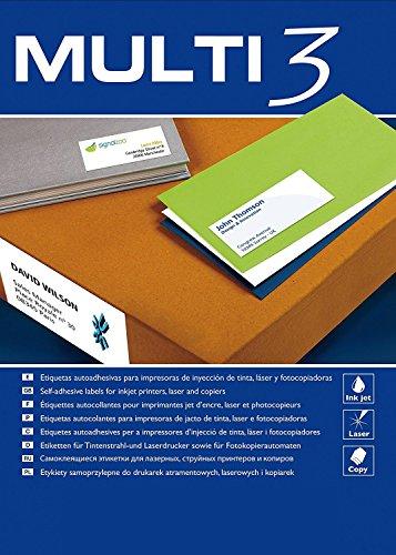 Apli Mehrfach-Etiketten für Laserdrucker und Kopierer, 105 x 35 mm, 100 Blatt