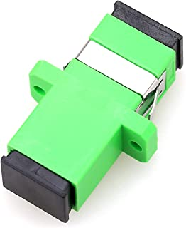 50PCS Fiber Coupler Simplex SC-APC Singlemode Simplex Fiber Optic Adapter Plastic SC Flange Coupler