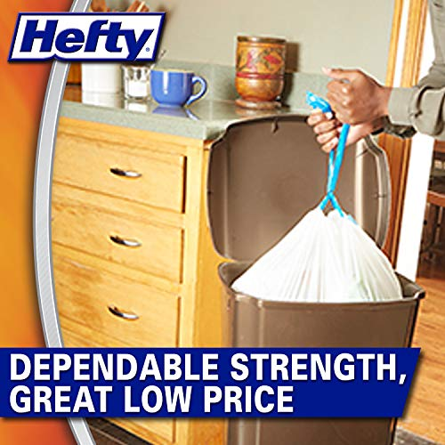 Hefty Strong Tall Kitchen Trash Bags, 13 Gallon, 90 Count