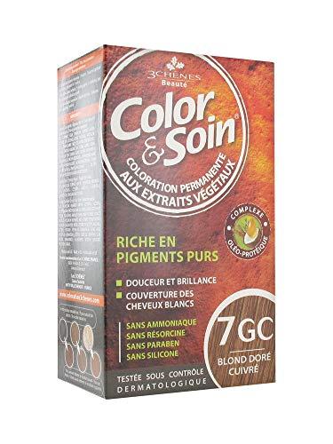 Les 3 Chênes Color et Soin Coloration Femme - Blond Doré Cuivré : 7GC