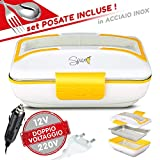 SPICE Amarillo Inoxidable Trio Plus Hornillo portátil Lunch Box Doble Voltaje Double Voltage...