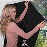 Portable Blackout Blind For Windows | 100% Blackout for Better Sleep | Quick & Easy to Put Up | No Drilling/Tools Required