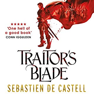 Traitor's Blade     The Greatcoats, Book 1              By:                                                                                                                                 Sebastien de Castell                               Narrated by:                                                                                                                                 Joe Jameson                      Length: 12 hrs and 51 mins     549 ratings     Overall 4.5