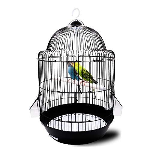 Nostalgie Gabbia per Uccelli Rotonda 32cmX54cm Volo di Allevamento Rotolante Gabbie per Uccelli per Parrocchetti Includono Vassoio Inferiore per Una Facile Pulizia