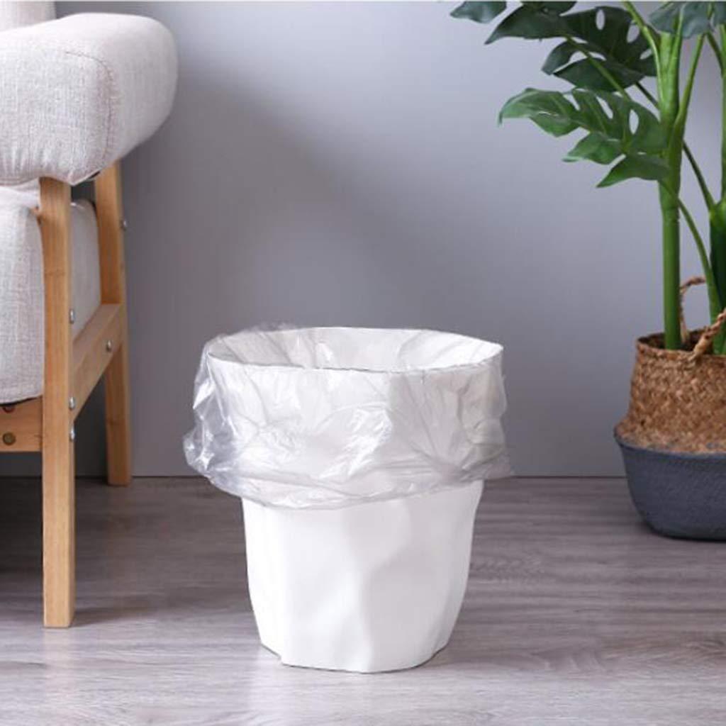 PETSOLA Basurero Irregular Creativo Puede Desechar El Cubo De Basura para El Autom/óvil De La Oficina En Casa Blanco Grande