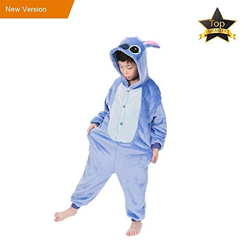 JunYito Pijama Pikachu Animale Disfraz Stitch Traje Niños Niña Adulto Mujer  Invierno Kigurumi Unicornio Cosplay Halloween eb32a94cd022