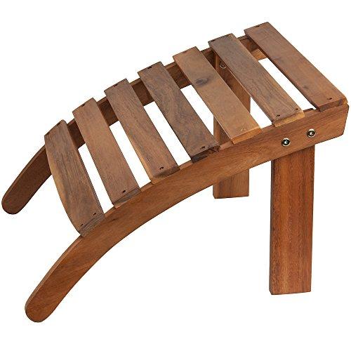 Deuba Repose-Pieds Confort en Bois d'acacia pour chaises transats de Jardin