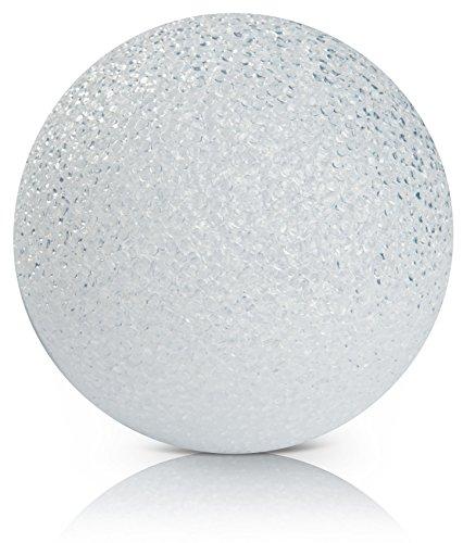 CHICCIE LED Kunststoff Kugelleuchte Weiß Mit Timer 15cm - Leuchtkugel Leuchtball Kugel Ball