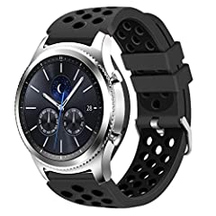 This replacement band perfectly fits for Samsung Gear S3 Frontier / Gear S3 Classic / Galaxy 46mm Smart Watch (No Tracker) Replacement Bands comes with Samsung Gear S3 / Galaxy 46mm watch lugs, which locks onto Samsung watch band interface precisely ...