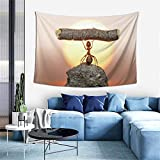 Wall Decoration Tapestry - Weight Lifting Ant Hippie Art Tapestry Wall Hanging - Extra Large Tablecloths 60 X 40 Inch for Bedroom Living Room Dorm Room Home Decor