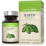 5-HTP Max Strength 200mg from NatureWise - Natural Griffonia Extract Supplement Promotes Healthy Sleep, Mood & Appetite Suppression - Time Release, Non-GMO, Gluten Free