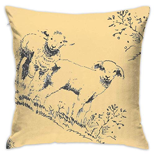 AEMAPE Floral 1 Throw Pillow Funda Cojín Cuadrado Doble Cara, 45x45cm