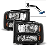 ACANII - For 1999-2004 Ford F-250 F-350 Super Duty Excursion Conversion Harley Headlights Set Driver + Passenger Side