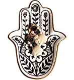 FUNYO Jewelry Dish Trinket Dish Ring Dish Ceramic Hamsa Evil Eye Hand of Fatima Holder Key...