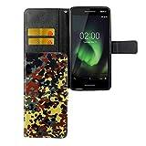 Handy-Hülle Kompatibel mit Nokia 2.1 2018 Bookstyle Bundeswehr - Wallet Case Kunst-Leder Klapphülle mit Magnet-Verschluss und Kartenfach