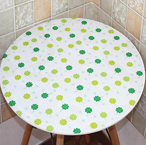 DGF Nettoyer la nappe ronde en vinyle PVC nettoyant Table basse Table Mat Plastique en verre doux (toutes les tailles, deux couleurs en option) (Couleur : A, taille : 70 * 70cm)