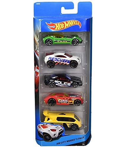 Hot Wheels Vehículo Paquete de 5, modelos/colores aleatorios