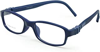 EnzoDate Kids Optical Glasses Frame Size 50 Silicone Safety Flexible Temple Children Eyeglasses Unbreakable Boys Girls