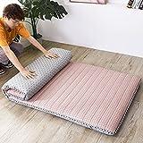 LAHSI Colchón futón, colchón de piso japonés, plegable, tatami, portátil, colchón, colchón, colchón, tumbona, cama,...