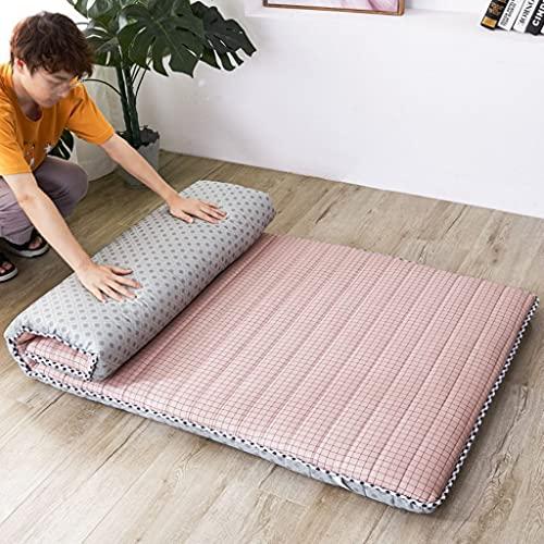 LAHSI Colchón futón, colchón de piso japonés, plegable, tatami, portátil, colchón, colchón,...