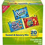 Nabisco Sweet & Savory Mix Variety Pack, OREO Mini Cookies, Mini CHIPS AHOY! Cookies, and Mini RITZ Crackers, Halloween Treats, 20 Snack Packs