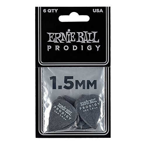 Ernie Ball 1.5mm Black Standard Prodigy Picks...