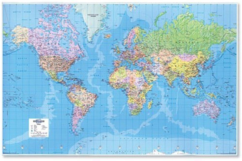 Map Marketing riesige Weltkarte 3D-Effekt ungerahmt Maßstab 507 507 507 km   2,5 cm B 1840 x H 1200 mm B000SHWOGI | Günstige  d3989a