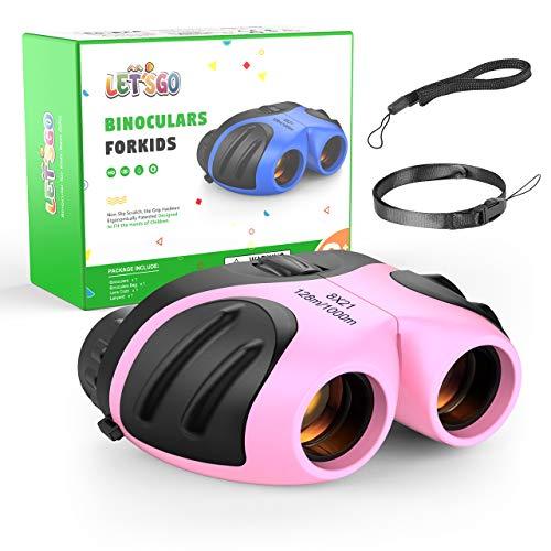 Dreamingbox 8X21 Binocular Impermeable para Niños – Regalo & Juguete