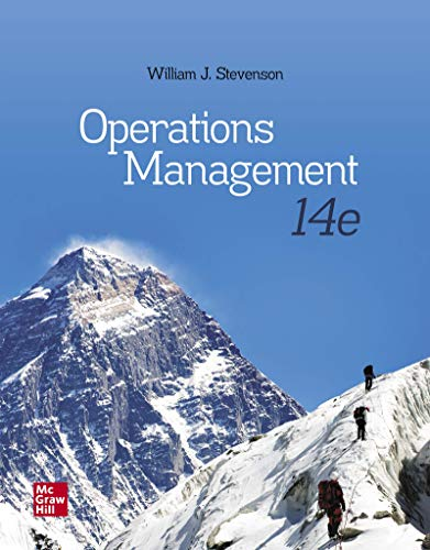 Compare Textbook Prices for Operations Management 14 Edition ISBN 9781260238891 by Stevenson, William J