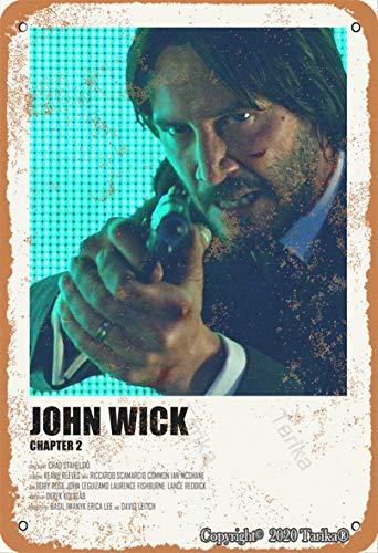 John Wick Chapter 2 Vintage Look 20,3 x 30,5 cm Plaque décorative en étain pour maison, cuisine, salle de bain, ferme, jardin, garage, citations inspirantes