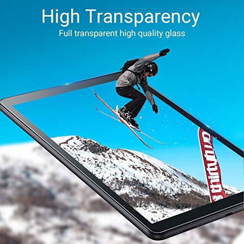 EasyAcc für Samsung Galaxy Tab A 10.1 2019 Hülle mit Panzerglas - Ultra Dünn mit Standfunktion Slim PU Leder Smart Schutzhülle Passt für Samsung Galaxy Tab A T510/ T515 10.1 Zoll 2019, Schwarz