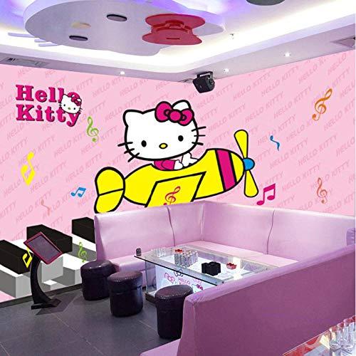 Schlafzimmer Wohnzimmer Tapete Großes Wandbild Tv Hintergrund Wand Schlafzimmer Ktv Tapete Thema Kinderzimmer Cartoon Tapete Hellokitty Katze-200Cmx140Cm