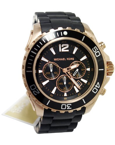 Michael Kors Watches Drake (Black with Rose Gold): Watches