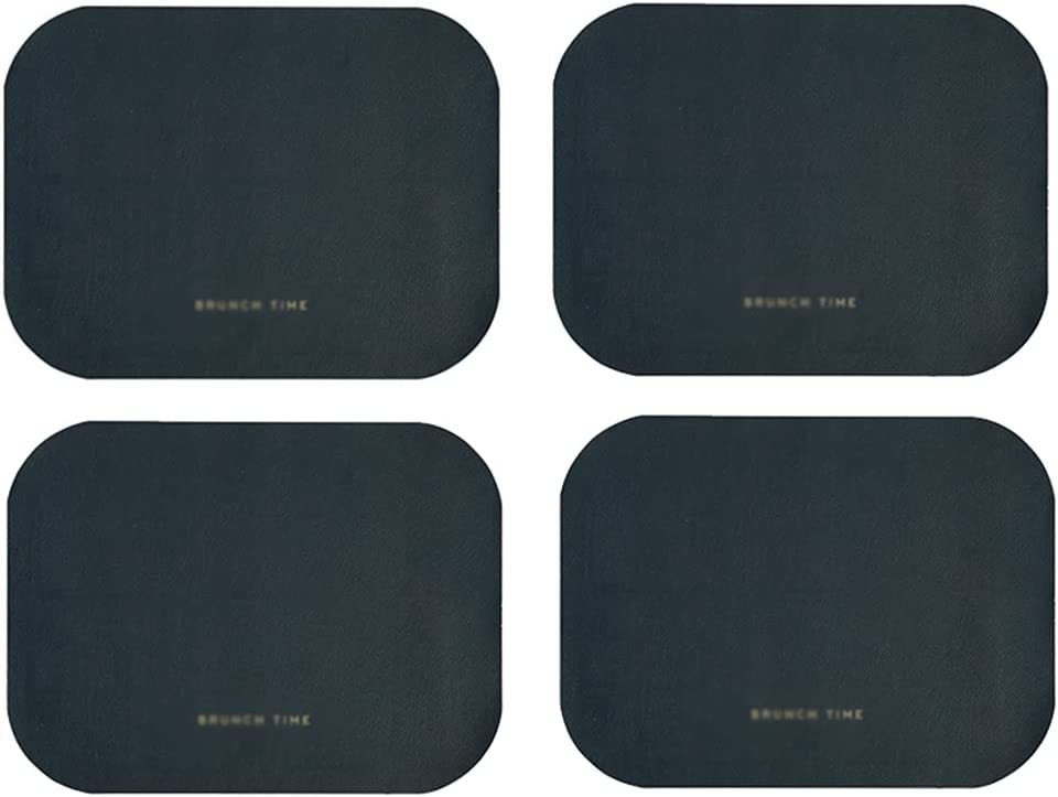 XJAXY Leather Great interest Placemats Some reservation for Dining Table Mats an 4 Place Set of