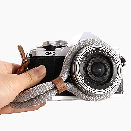 LXH Correa de muñeca cámara Digital Algodón Suave Hecho a Mano para Leica Canon Nikon Fuji Olympus Lumix Sony