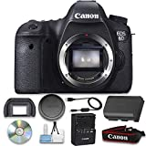 Canon EOS 6D 20.2 MP CMOS Digital SLR Camera with 3.0-Inch LCD (Body Only) Bundle